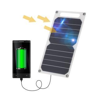 超薄型 ソーラーパネル スマホ モバイルバッテリー 充電 USBポート 3W|synergy2