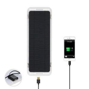 超薄型 ソーラーパネル 18V 5W カーバッテリー モバイルバッテリー 充電 USBポート|synergy2