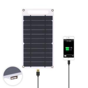 超薄型 ソーラーパネル 7.8W スマホ モバイルバッテリー 充電 USBポート|synergy2