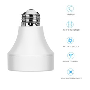 普通の電球をWi-Fiでコントロール可能にするホルダー スマートフォン、タブレットで操作 Googl...