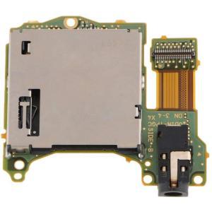ヘッドフォンポート付き交換用ゲームカードスロットソケットボード 損傷した部品の取り替えに