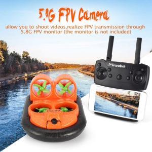 2.4GHz ラジコンボート 高速ホバークラフト 水陸両用 5.8G FPV 600TVL カメラ搭載 LEDライトつき 発泡ポリプロピレン