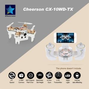 Cheerson CX-10WD-TX 2.4GHz 4CH 6-軸 Wi-Fi FPV 3D外転 ミニ ドローン 30万画素カメラ synergy2