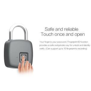 指紋認証 スマート キーレスロック 南京錠 IP65防水 10指紋登録 synergy2