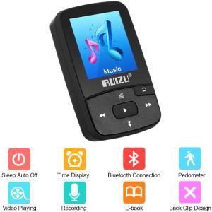 Ruizu X50 MP3 MP4 クリップスタイル Bluetooth 音楽・動画プレーヤー 8GB 歩数計 synergy2