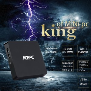 ACEPC T11 Windows 10 ミニ PC 4GB / 32GB VESA対応ブラケットつき