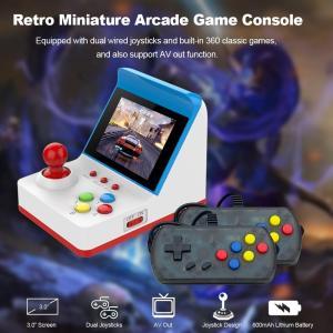 360種類のクラシックゲームを内蔵 本体コントローラー+ 2つのゲームパッド AVケーブルでテレビに...