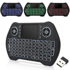 2.4GHz ワイヤレスキーボード + タッチパッド 3色バックライト synergy2