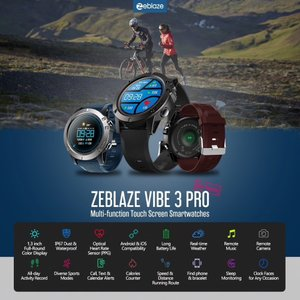 Zeblaze VIBE 3 Pro スマートスポーツウオッチ 歩数計、着信&メッセージ通知、ソーシャルシェアリング|synergy2