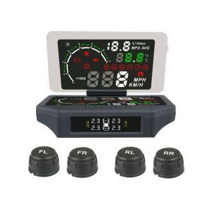タイヤ4輪の空気圧及び温度を車内で確認 バーストや燃費悪化を未然に防止 かんたん取り付けセンサー ス...