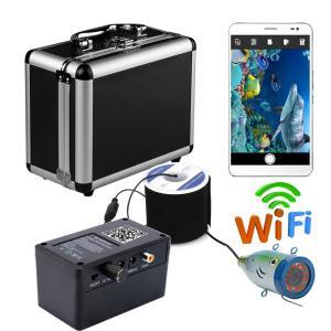 ワイヤレス Wi-Fi 水中魚群探知カメラ フィッシュファインダー 20mケーブル iOS Android対応 1000TVL 90°レンズ|synergy2