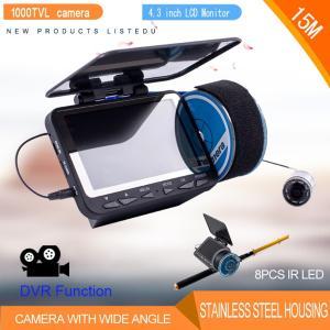 フィッシュファインダー 水中ビ デオカメラ 1000 TVライン 4.3インチ 液晶モニター 15m ケーブル 赤外線 LEDライト x 8|synergy2