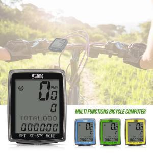 現在速度、平均速度、最高速度、時間、距離、温度と高度、トリップ時間、日付などを表示 バックライト付き...