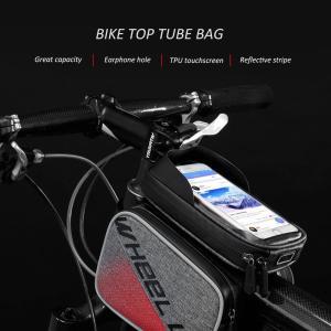 自転車用トップチューブバッグ 6.2インチスマートフォンホルダー 収納型ハンドルバーポーチ|synergy2