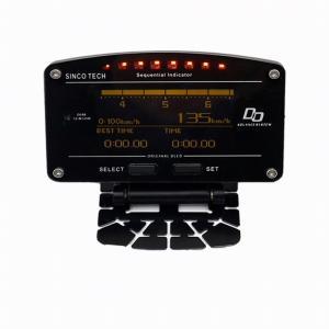 レース対応 デジタル スピードメーター タコメーター 水温 油温 油圧 エキゾースト温度 10in1...