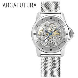 ARCAFUTURA アルカフトゥーラ 自動巻き 腕時計 メンズ 送料無料 1年保証  フルスケルトン 自動巻き 腕時計 BOX 保証書付き synergyselect