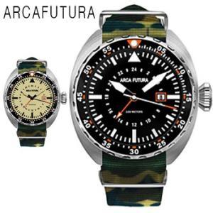 ARCAFUTURA アルカフトゥーラ ス日付カレンダー 24時間計 機能付き ミリタリー 腕時計 メンズ 送料無料 1年保証  クォーツ 腕時計 BOX 保証書付き synergyselect