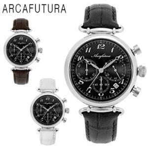 ARCAFUTURA アルカフトゥーラ クロノグラフ 腕時計 メンズ 送料無料 1年保証  クォーツ 腕時計 BOX 保証書付き synergyselect