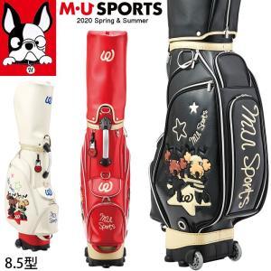 3月下旬入荷 予約 2020春夏新作 M U SPORTS MUスポーツ ゴルフバッグ レディース ローリングソール キャディバッグ 8.5型   NEW MU20SS M0325|synergyselect