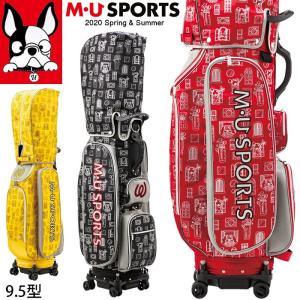 3月中旬入荷 予約 2020春夏新作 M U SPORTS MUスポーツ ゴルフバッグ 4輪 ストッパー付き ローリングソール キャディバッグ 9.5型   NEW MU20SS M0315|synergyselect