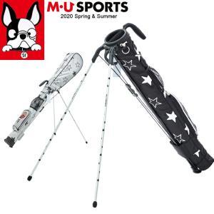 3月中旬入荷 予約 2020年 春夏 新作 M U SPORTS MUスポーツ ゴルフバッグ 総柄 レディース セルフスタンド クラブケース MU20SS M0315|synergyselect