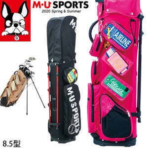 3月下旬入荷 予約 2020春夏新作 M U SPORTS MUスポーツ ゴルフバッグ レディース スタンド キャディバッグ 8.5型  NEW MU20SS M0325|synergyselect