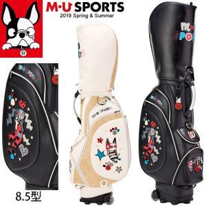 2019年 春夏 新作 M・U SPORTS MUスポーツ ゴルフバッグ レディース ローリングソール キャディバッグ 8.5型 MU19SS 0206|synergyselect