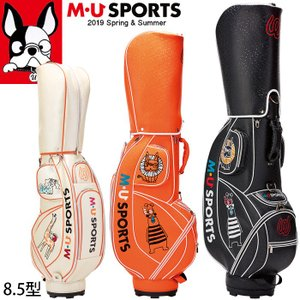 2019年 春夏 新作 M・U SPORTS MUスポーツ ゴルフバッグ レディース レギュラーソール キャディバッグ 8.5型 MU19SS 0305|synergyselect