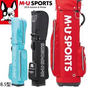 2019年 秋冬 新作 M・U SPORTS MUスポーツ ゴルフバッグ レディース レギュラーソール キャディバッグ 8.5型 MU19AW M0915|synergyselect