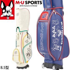 2019年 秋冬 新作 M・U SPORTS MUスポーツ ゴルフバッグ レディース ローリングソール キャディバッグ 8.5型 MU19AW|synergyselect