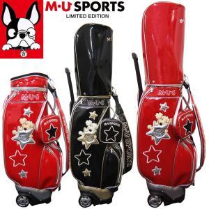 2019年 秋冬 新作 M・U SPORTS MUスポーツ 別注 限定 ゴルフバッグ レディース ローリングソール キャディバッグ 8.5型 MU19AW|synergyselect