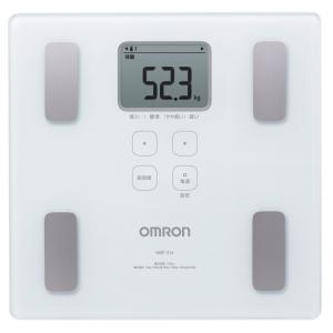 送料無料 オムロン 体重・体組成計 カラダスキャン ホワイト HBF-214-W|synergyselect