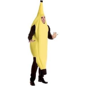 送料無料 バナナ コスチューム 全身 ハロウィン コスプレ 面白 着ぐるみ バナナ 余興 Hallo...