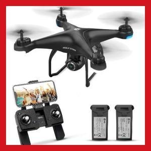送料無料 ドローン GPS搭載 カメラ付き バッテリー2個付き 1080P 広角HDカメラ オートリターンモード  高度維持 国内認証済み|synergyselect