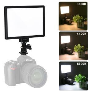 送料無料 LED ビデオライト 薄型パネル 輝度と色温度調整可能 3300K-5600K CRI95+ 小物撮影 結婚式写真撮影 一眼レフカメラ対応 synergyselect
