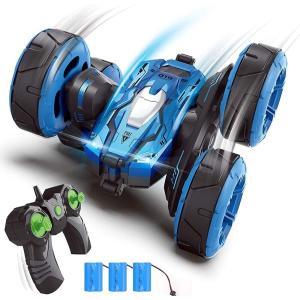 送料無料 ラジコンカー 360度回転 四輪駆動 スタントカー 2.4GHz無線 両面走行 USB充電式 LED搭載 こども向け 簡単操作 ラジコン|synergyselect