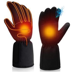 電熱 グローブ 手袋 ヒーター 男女兼用 フリーサイズ スマホ対応  防寒 暖房 電池式 フリーサイ...
