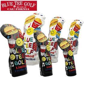 BLUE TEE GOLF ブルーティーゴルフ 限定モデル スマイル & バーガー ヘッドカバー 3サイズ・各2色 1227|synergyselect