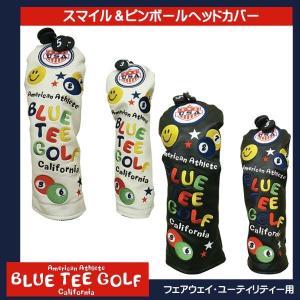 BLUE TEE GOLF ブルーティーゴルフ ピンボール &スマイル ヘッドカバー FW用 UT用 各2色|synergyselect