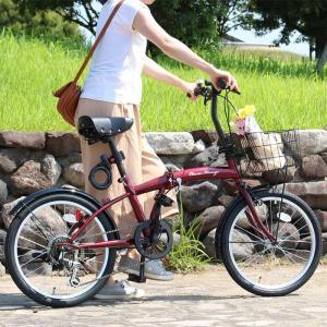 折りたたみ 自転車 20インチ クラシックミムゴ シマノ製6段変速  20インチ 折りたたみ自転車  レッド  X0111 0228|synergyselect