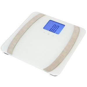 体組成計 50F ホワイト 体脂肪計 体重計 ヘルスメーター 薄型 コンパクト ダイエット ヘルスケア X0111|synergyselect