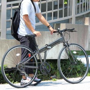 折りたたみ 自転車 700c FIELD CHAMP シマノ製7段変速  クロスバイク  折りたたみ自転車  ガンメタ  X0111 0228|synergyselect