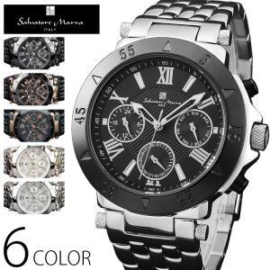 マルチカレンダー 腕時計 メンズ 1年保証 全6色 正規 Salvatore Marra サルバトーレ マーラ マルチファンクション 腕時計 BOX 保証書付き S0204|synergyselect