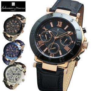 マルチカレンダー 腕時計 メンズ 送料無料 1年保証 全3色 正規 Salvatore Marra サルバトーレ マーラ マルチファンクション 腕時計 BOX 保証書付き|synergyselect