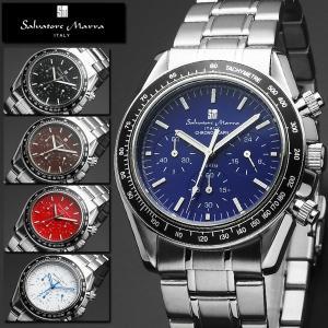 腕時計 メンズ レディース 送料無料 1年保証 正規 全5色 Salvatore Marra サルバトーレ マーラ  20気圧防水 クロノグラフ 腕時計 BOX 保証書付き|synergyselect