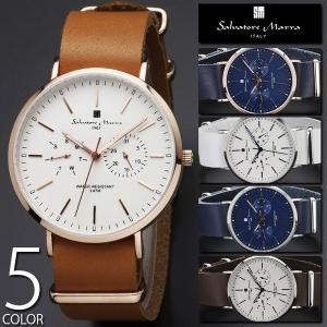 腕時計 メンズ レディース 送料無料 1年保証 正規 Salvatore Marra サルバトーレ マーラ  マルチカレンダー 腕時計 BOX 保証書付き 1217|synergyselect
