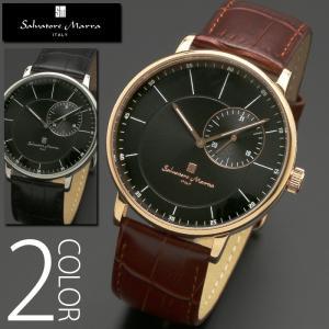 5気圧防水 腕時計 メンズ 1年保証 全2色 正規 Salvatore Marra サルバトーレ マーラ スモールセコンド 腕時計 BOX 保証書付 1023|synergyselect
