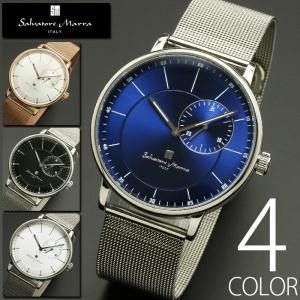 5気圧防水 腕時計 メンズ 1年保証 全4色 正規 Salvatore Marra サルバトーレ マーラ スモールセコンド 腕時計 BOX 保証書付 1023|synergyselect