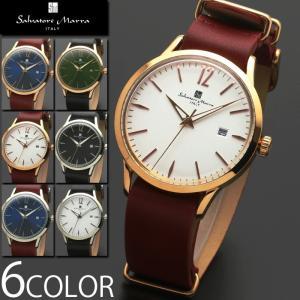 腕時計 メンズ レディース 送料無料 1年保証 正規 Salvatore Marra サルバトーレ マーラ  マルチカレンダー 腕時計 BOX 保証書付き 1023|synergyselect