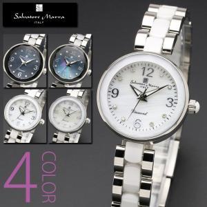 セラミック ダイヤモンド 腕時計  レディース 全4色 正規 Salvatore Marra サルバトーレ マーラ 8ポイントダイヤ セラミック 腕時計 BOX 保証書付|synergyselect